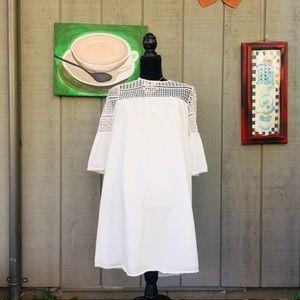 Anthropologie Coreylynncalter Eyelet White Dress